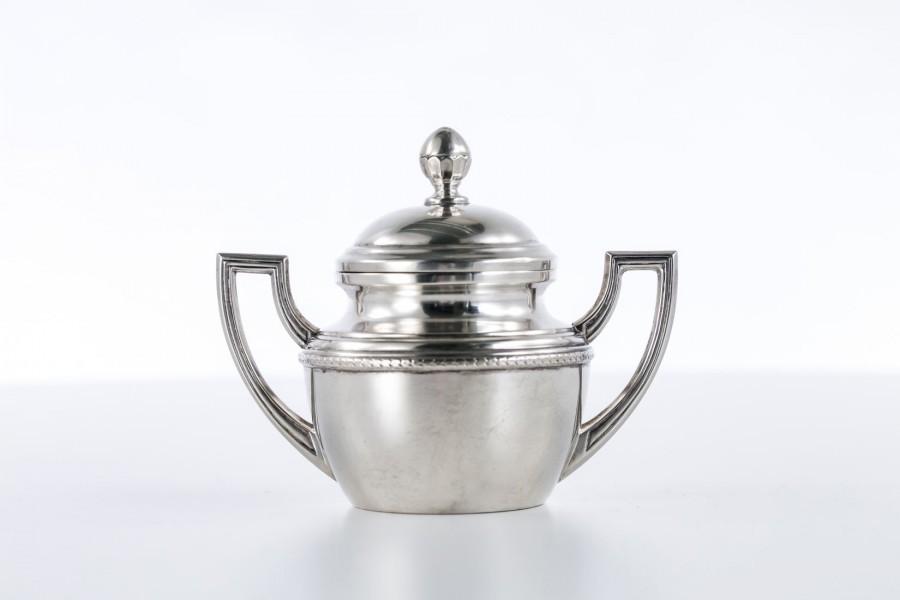 Cukiernica kryta, wytworna,  złocona od wewnątrz, srebrna, Włochy – neo empire.