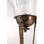 Lampka cesarska stojąca, gabinetowa, 200-letnia, z brązu, Francja – empire