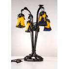 Lampa Frères Muller stojąca, wieloramienna, salonowa, do gabinetu, Francja -  secesyjna