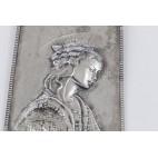 Obraz/relief M.F.fu G.Battista Matki Boskiej, srebrny, Włochy – sztuka świata