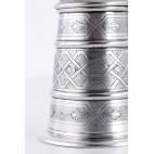 Kufel z pokrywką, złocony, srebrny, Włochy – modernizm