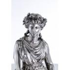 Demeter Christofle, statua bogini urodzaju i płodności, srebro / heban, Paryż – sztuka świata