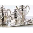 Serwis Christofle Gallia kawowo-herbaciany, 4/2-elem. złocony, Paryż – eklektyzm
