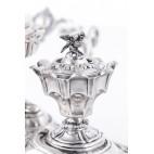 Kałamarz A.L. Fizaine,  z dzwoneczkiem na służbę, srebrny, Francja – eklektyczny
