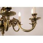 """Żyrandol typu """"Pająk""""  8-ramienny ze świecami, brąz, mosiądz, Niemcy – eklektyczny"""