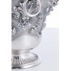 Szampaniera dekoracyjna, reprezentacyjna, srebrna, Włochy – neorokokowa