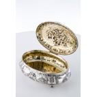 Bomboniera/Szkatuła Pałacowa wielka z pokrywą, złocona,  srebrna, Niemcy – neobarok