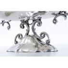 Patera reprezentacyjna, polerowana, srebrna, Włochy – modernistyczna.