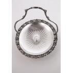 Patera/koszyczek FAROdiROCCHI RENZO &CARLO Sdf z uchwytem, srebrny Włochy – modernistyczny