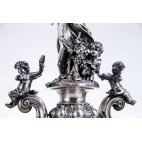Patera srebrna Filippo Chiappe arcydzieło sztuki jubilerskiej, figuralne, Włochy – eklektyczna