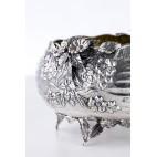 Patera, żardiniera kulista, reprezentacyjna, złocona, srebrna, Hiszpania – secesyjna