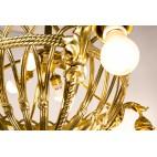 Żyrandol typu parasol,  gondola, Austro-Węgry, brąz złocony – klasycystyczny