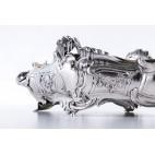 Żardiniera reprezentacyjna ze złoconym wkładem miedzianym, srebrna, Francja – neobarokowa