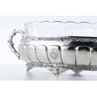 Żardiniera Bruckmann & Söhne reprezentacyjna, kryształowa, srebrna, Niemcy – klasycyzm