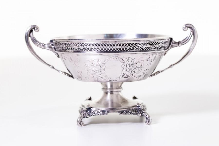 Cukiernica reprezentacyjna,  otwarta, ok. 200-letnia srebrna, Wiedeń – Empire.