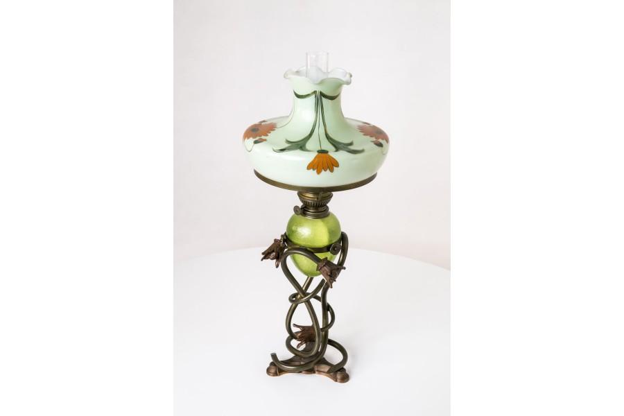 """Lampa """"Kaiser"""" stołowa, stojąca, gabinetowa,  naftowa, Niemcy – secesyjna"""