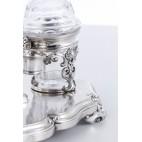 Kabaret Marc-Augustin Lebrun na przyprawy płynne, szklany, srebrny, Francja – rokokowy