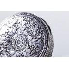 Puzderko / puderniczka,  srebrne, Włochy – sztuka świata.