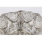 Patera ażurowa, kosz, ze scenką rodzajową,   srebrny, Niemcy – eklektyzm.