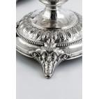 Komplet 2 świeczników, srebrne, Niemcy – eklektyczne.