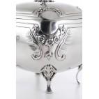 Cukiernica bombetta kryta,  na kluczyk, złocona, srebrna Austro-Węgry – neobarokowa.