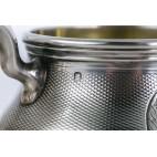 Serwis Odiot trójelementowy, kawowo-herbaciany, złocony, srebro, Paryż – eklektyczny.