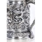 Kufel Sazikov z pokrywką, z carskiego dworu, złocony,  srebro, Stara Rosja – neobarok
