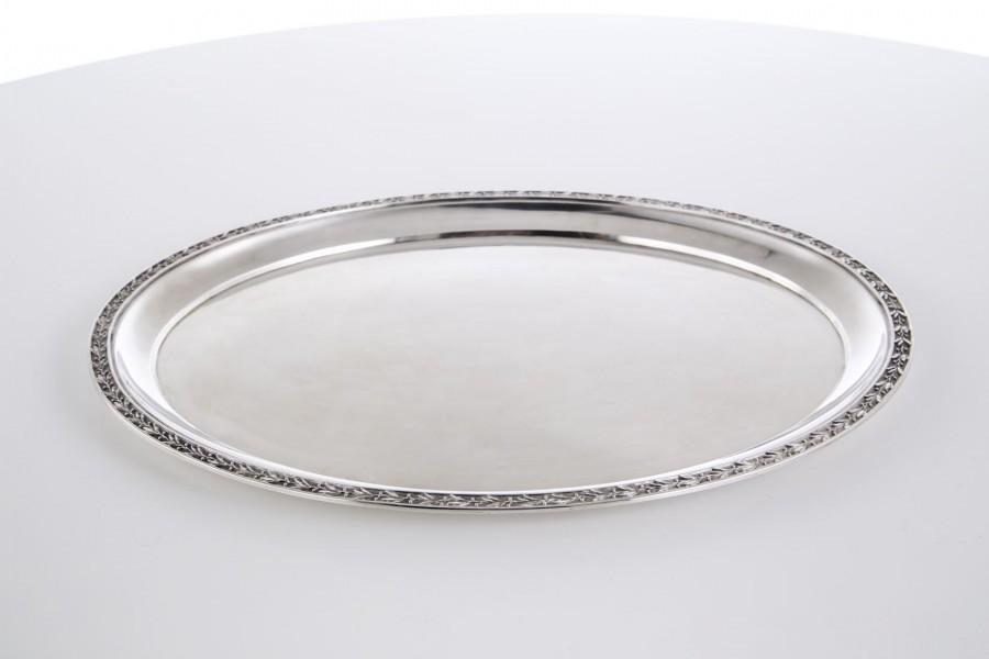 Taca podająca, srebrna, Niemcy – klasycystyczna.