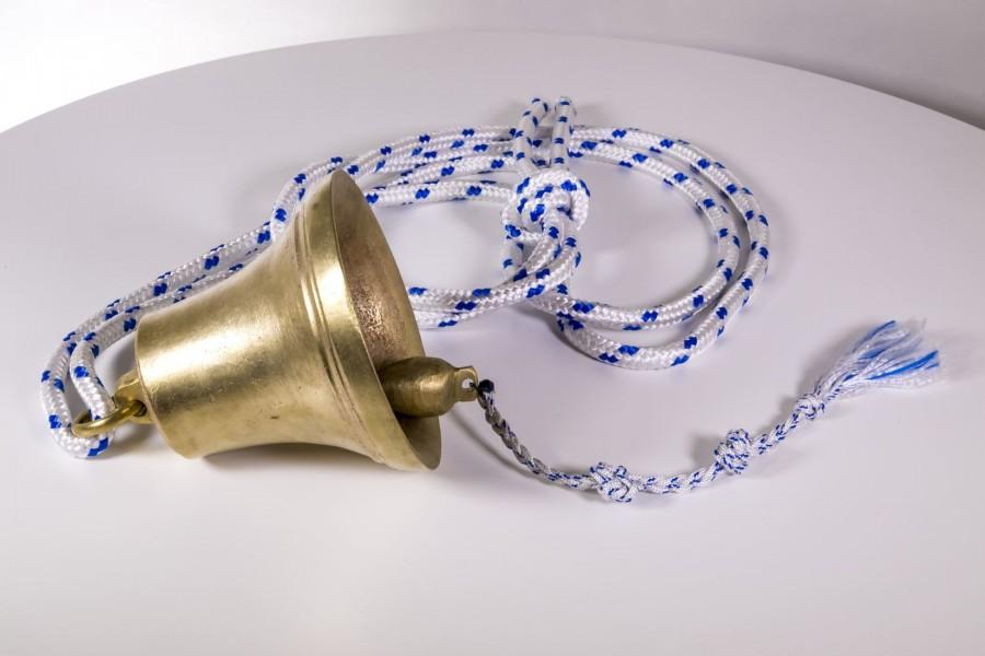 Dzwon okrętowy / pokładowy / wachtowy, brąz spiżowy, Dania – sztuka świata.