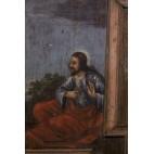"""Obraz malowany na drewnie """"Jezus z Niewiastą"""",  Polonica – barokowy."""