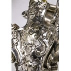 Lampa wisząca, katedralna, wieczne światło/wieczna lampka plater srebrzony – barokowa.
