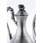 Dzban Massat Freres, na kawę / herbatę, srebro, Paryż – neorokoko.