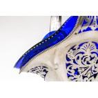 Kosz na kwiaty, wytworny,  reprezentacyjny, Stary Wiedeń, srebrny – klasycystyczny