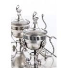 Kałamarz z pokrywką, filigranowy, wsady złocone, srebro, Anglia – Neo Empire.