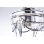 Bola/Ponczera W. Hempel  z chochlą, a'la Faberge, kryształ, srebro, Polonica - Neo Empire.
