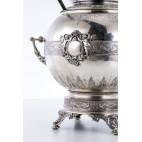 Bola Pałacowa z Demeter, chochelka, heban, złocenie,  srebro, Niemcy – neobarokowa.