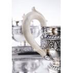 Serwis Luigi Cavezzale,5-elem. śniadanie-deser, kość słoniowa, srebro, Włochy - eklektyczny.