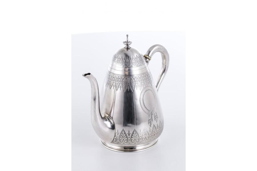 Dzbanuszek Emile Hugo  a la Faberge, srebro, Francja – Biedermeier.
