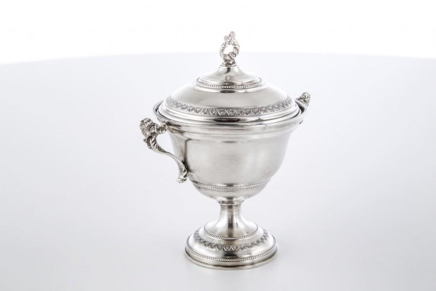 Cukiernica CESA 1882, kryta, srebrna,  Włochy – Neo Empire.