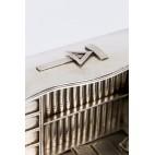 Alegoryczny kałamarz masoński, wykonany pod zamówienie  srebrny – sztuka świata