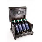 Skrzynka na wina reprezentacyjna podróżna, z drewna egzotycznego Francja - eklektyczna.