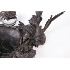 Kałamarz z wizytownikiem  z brązu lanego, wiedeński  – secesyjny.