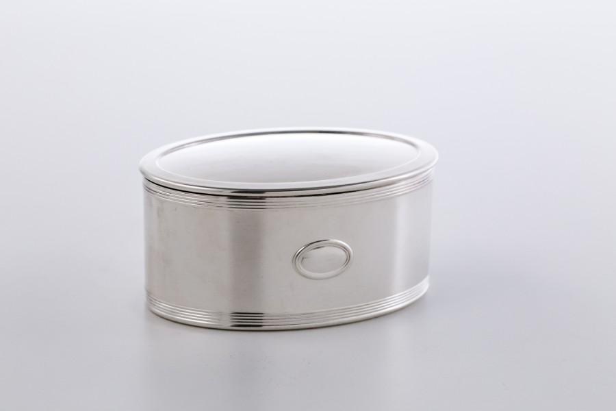 Puzderko kryte, damskie, 2-elementowe, włoskie, srebrne – Art Deco