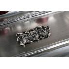 Kałamarz z rycerzem i piórami, Carolus V, srebrny z rubinami  Hiszpania - klasycystyczny