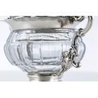 Cukiernica F.A.Debain kryta, srebrno-kryształowa, paryska, 150-letnia – nerokokowa.