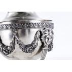 Cukiernica kryta 200-letnia, srebrna, cesarska, francuska Biały kruk – oryginalny empire