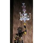 Figura Venetian Blackamoor  ze szklanym kandelabrem  Murano, Włochy – sztuka świata.