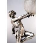 """Lampka """"Bubble Dancer"""" Carlier tańcząca kobieta z bańką, francuska – ikona Art Deco."""