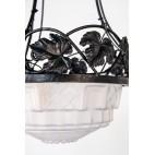 Żyrandol ze szkła mrożonego Francja,  - Art Nouveau / Art Deco.