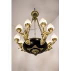 Żyrandol pałacowy,  figuralny, reprezentacyjny, Niemcy - eklektyczny.